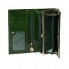Кошелек Nina Farmina 9281 темно-зеленый кожаный