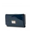 Кошелек Nina Farmina 9282-026 синий лаковый кожаный