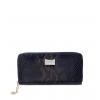 Кошелек Nina Farmina 9285-122 темно-синий кожаный