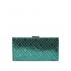 Кошелек Nina Farmina 9287-104 бирюзовый кожаный