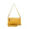 Клатч Nina Farmina 06AN11551 желтый кожаный