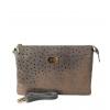 Клатч Nina Farmina 6288-005 серый кожаный