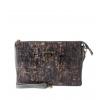 Клатч Nina Farmina 6288-031 серый кожаный
