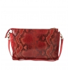 Клатч Nina Farmina 6288-116 красный кожаный