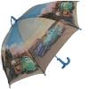 Складной зонт трость детский для мальчика Тачки 110-9