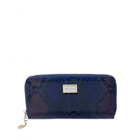 Кошелек Nina Farmina 9285-114 синий кожаный