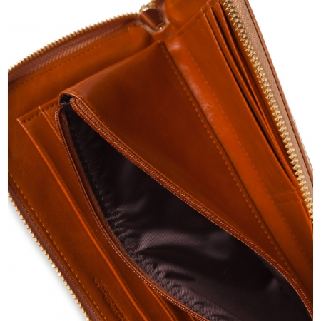 Кошелек Nina Farmina 2010 коричневый кожаный