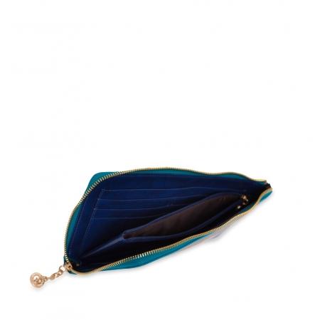 Кошелек Nina Farmina 2010 темно синий кожаный