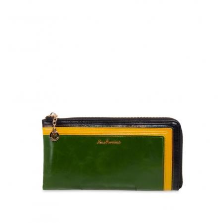 Кошелек Nina Farmina 2010 зеленый кожаный