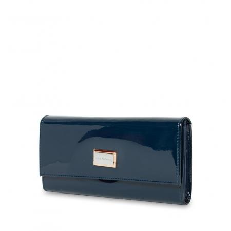 Кошелек Nina Farmina 9280 темно-синий кожаный