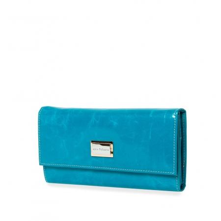 Кошелек Nina Farmina 9280 голубой кожаный