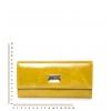 Кошелек Nina Farmina 9280 горчичный светлый кожаный