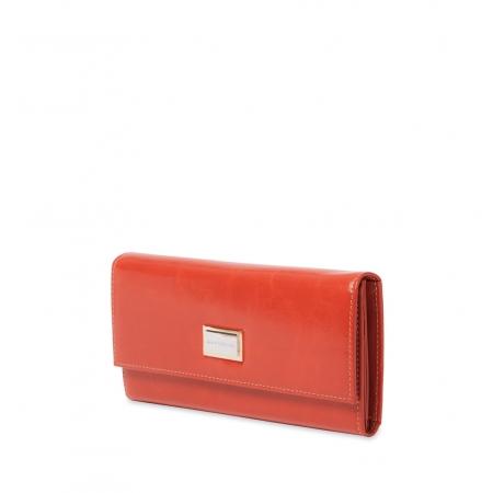 Кошелек Nina Farmina 9280 рыжий кожаный
