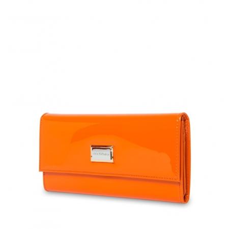 Кошелек Nina Farmina 9280 оранжевый кожаный