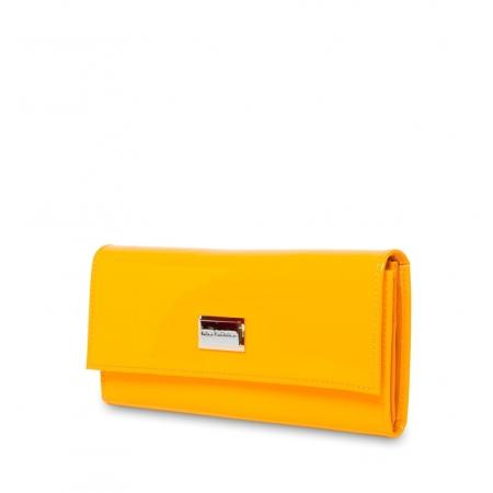 Кошелек Nina Farmina  9280 желтый кожаный