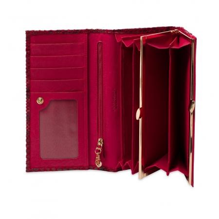 Кошелек Nina Farmina 9281-116 темно-красный кожаный