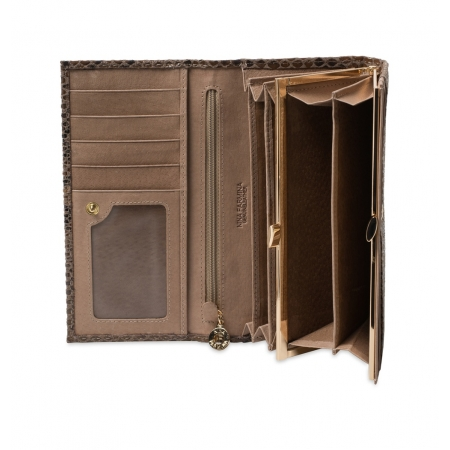 Кошелек Nina Farmina 9281-117 светло-коричневый кожаный