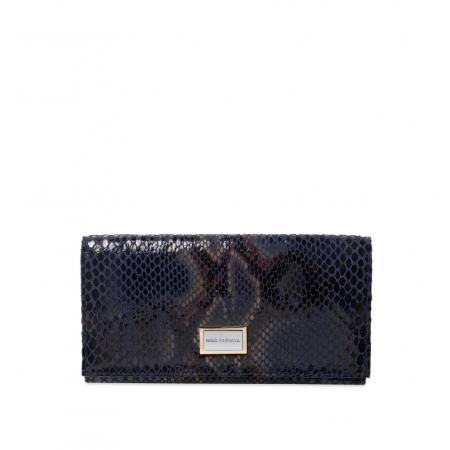 Кошелек Nina Farmina 9281-122 темно-синий кожаный