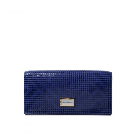 Кошелек Nina Farmina 9281-123 темно-синий кожаный