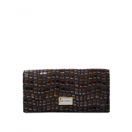 Кошелек Nina Farmina 9281-125 темно коричневый кожаный