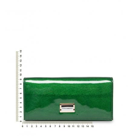 Кошелек Nina Farmina 9281 зеленый лаковый кожаный