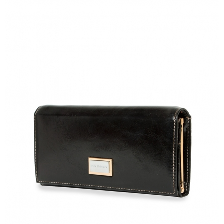 Кошелек Nina Farmina 9281 черный кожаный