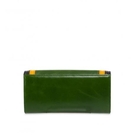 Кошелек Nina Farmina 9281 зеленый с декором кожаный