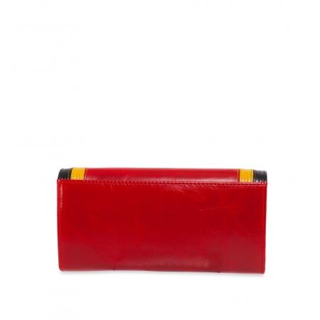 Кошелек Nina Farmina 9281 красный с декором кожаный