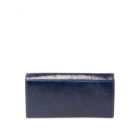 Кошелек Nina Farmina 9281 темно-синий кожаный