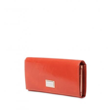 Кошелек Nina Farmina 9281 оранжевый кожаный