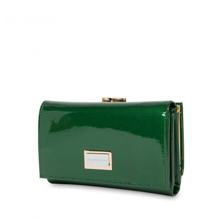 Кошелек Nina Farmina 9282-026 зеленый кожаный