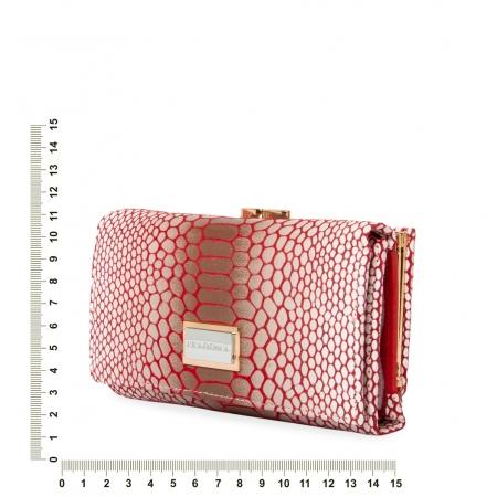 Кошелек Nina Farmina 9282-026 белый с красным кожаный