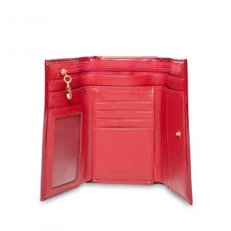 Кошелек Nina Farmina 9282-026 красно-розовый кожаный