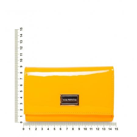 Кошелек Nina Farmina 9282-026 желтый кожаный