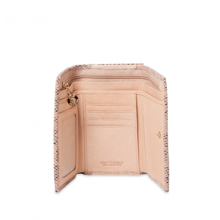Кошелек Nina Farmina 9282-069 бежевый кожаный