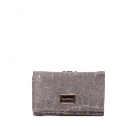 Кошелек Nina Farmina 9282-102 серый кожаный