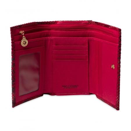 Кошелек Nina Farmina 9282-116 темно-красный кожаный
