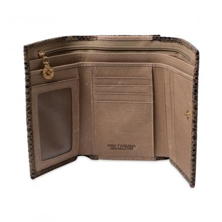 Кошелек Nina Farmina 9282-117 коричневый кожаный