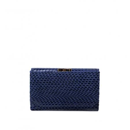 Кошелек Nina Farmina 9282-119 темно-синий кожаный