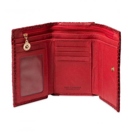 Кошелек Nina Farmina 9282-120 красный кожаный