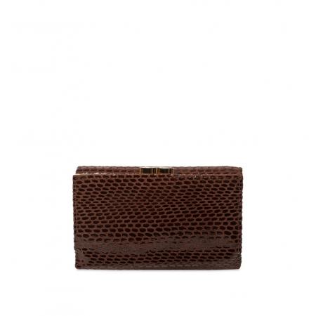 Кошелек Nina Farmina 9282-121 коричневый кожаный