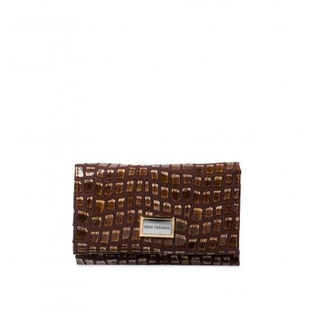 Кошелек Nina Farmina 282-126 коричневый кожаный