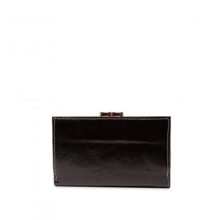 Кошелек Nina Farmina  9282 черный кожаный