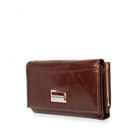 Кошелек Nina Farmina 9282 темно-коричневый кожаный
