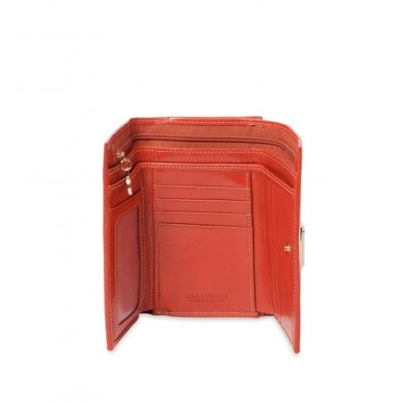 Кошелек Nina Farmina 9282 оранжевый кожаный