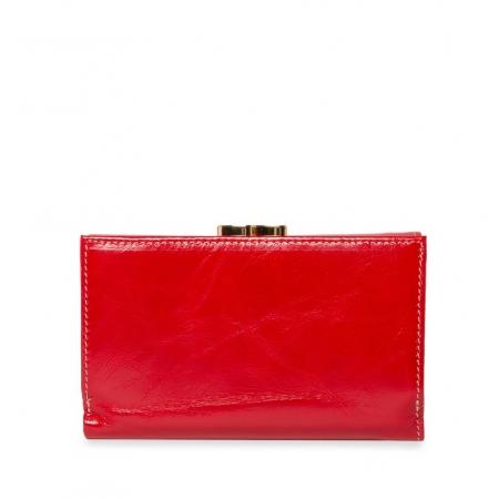 Кошелек Nina Farmina 9282 ярко-красный кожаный