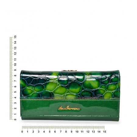 Кошелек Nina Farmina  9282 зеленый кожаный