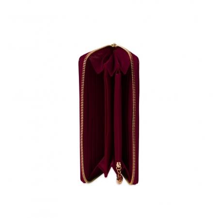 Кошелек Nina Farmina 9285-026 винный кожаный
