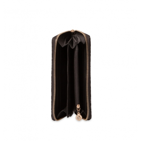 Кошелек Nina Farmina 9285-100 черный кожаный
