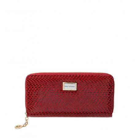 Кошелек Nina Farmina 9285-120 красный кожаный